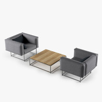 Cloud Lounge Chair Table Set