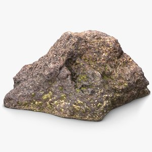 3d model goa beach stone 1