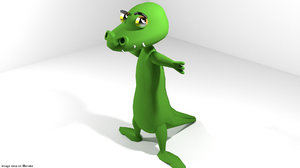 cartoon toon crocodile blend