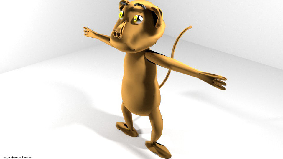 3d model cartoon toon animal