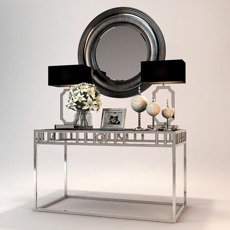 andrew martin luna console table 3d model