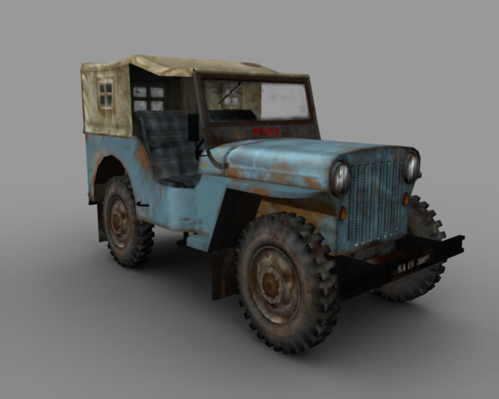 3d model of old jeep