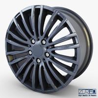 3d model style 345m wheel ferric