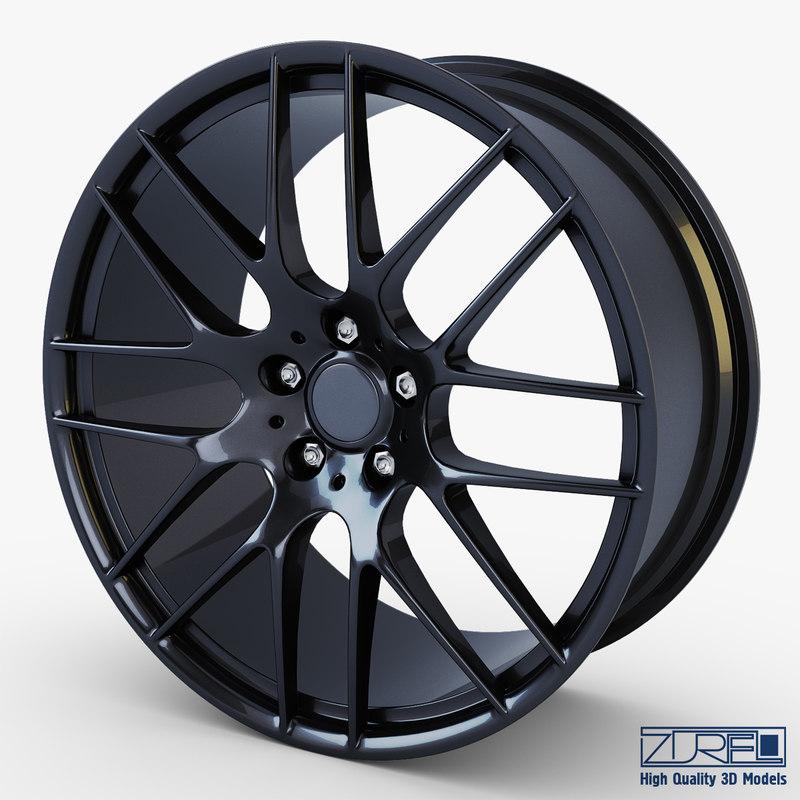 style 359m wheel black 3d model