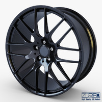 style 359m wheel black 3d model