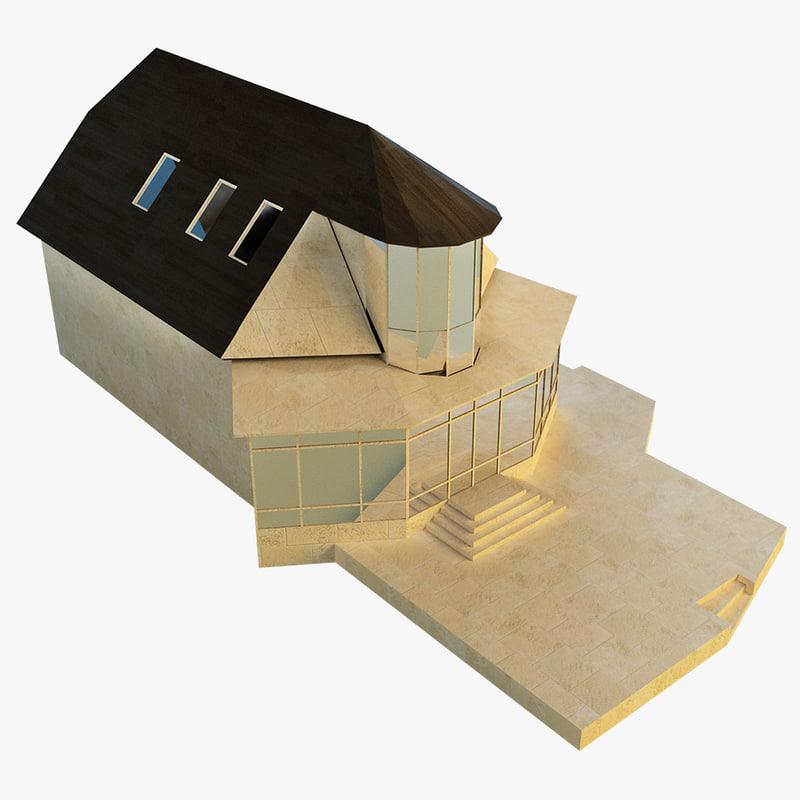 3d model of village house
