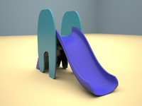 kiddie slide children playground 3d max