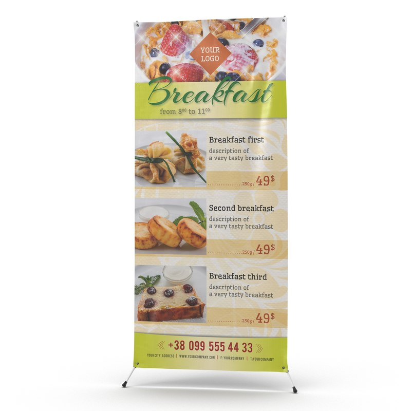 3d model banner stand