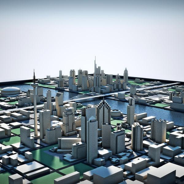 3d river city model