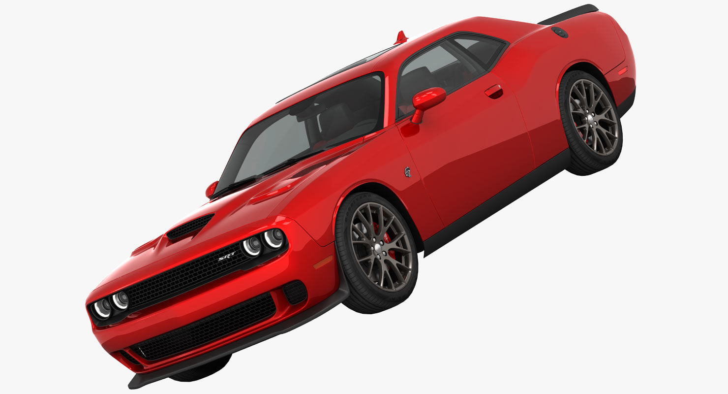 3d dodge challenger srt hellcat model