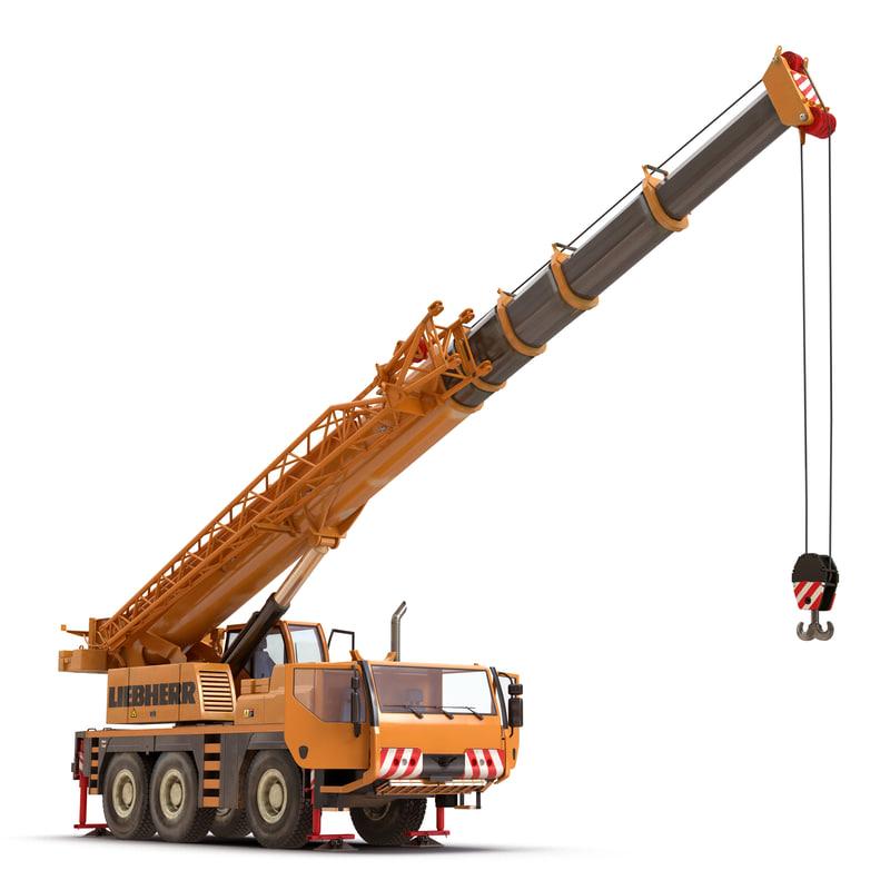 3d compact mobile crane liebherr model
