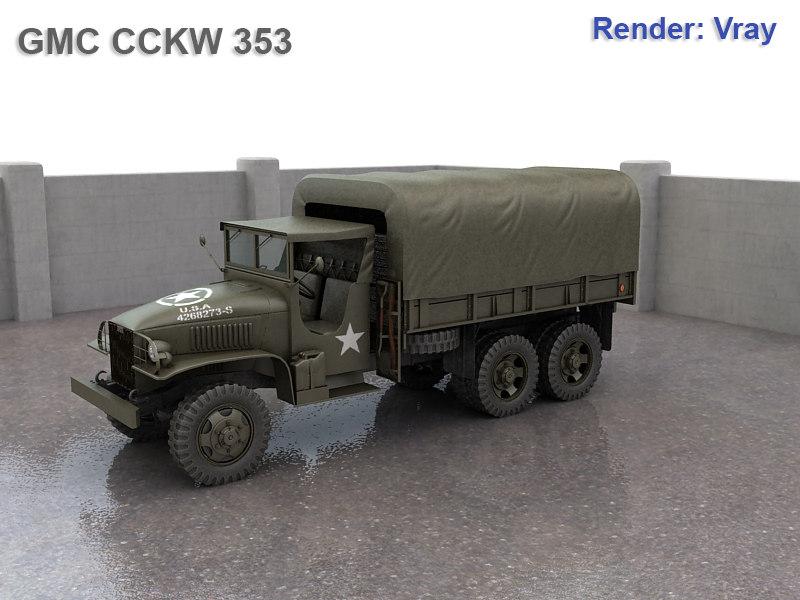 3dsmax gmc cckw cargo truck