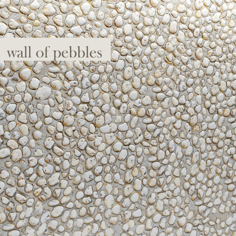 wall pebbles 3d obj