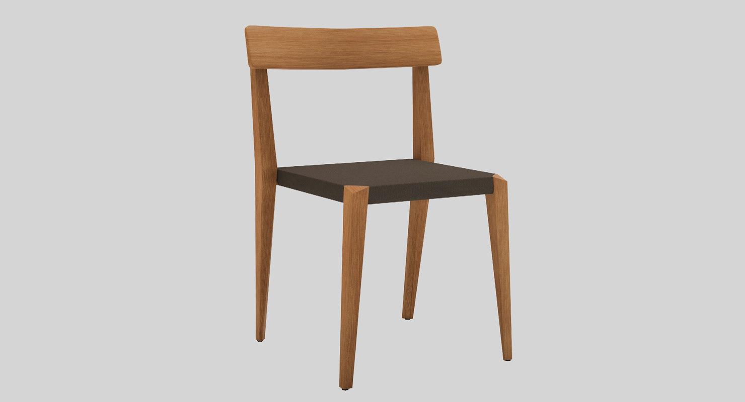 3d roda teka chair model