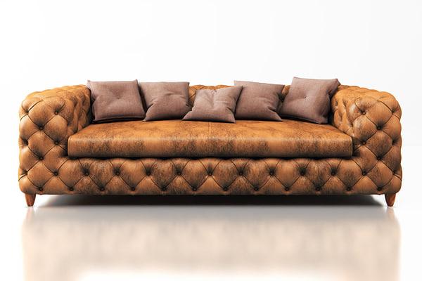 sofa desire vintage 3-seater 3d max