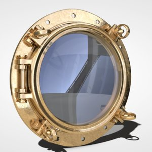 3d porthole hole model