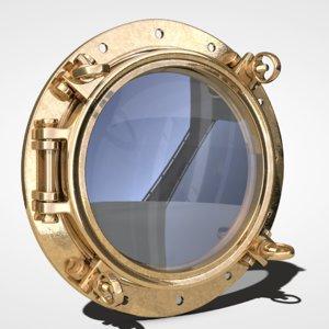 3d porthole hole model