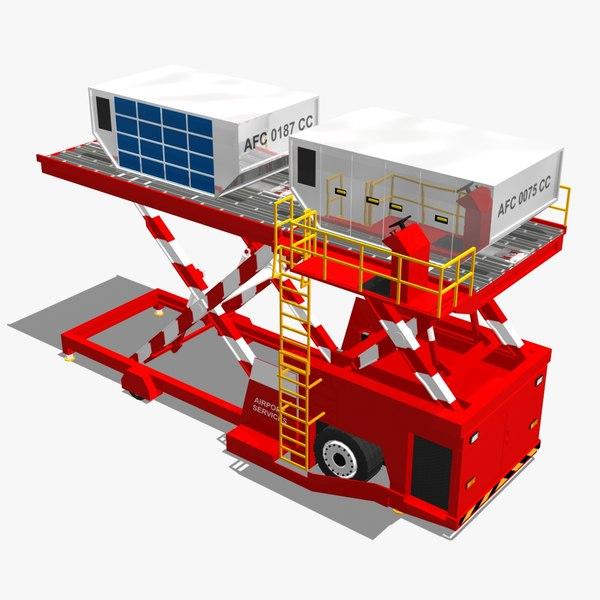 3dsmax aircraft loader device
