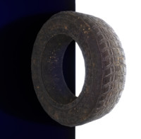 Lowpoly Tire Prop