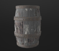 Medieval Barrel (lowpoly)
