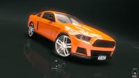3d model fantastic race car