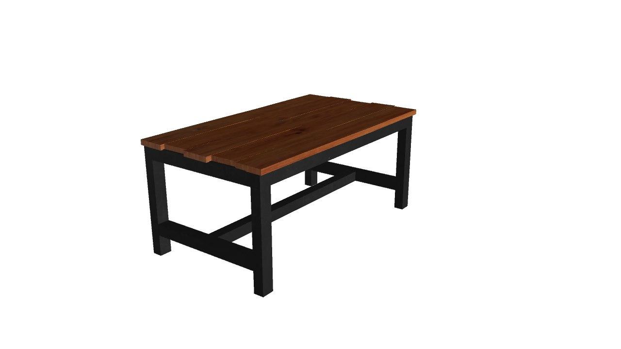 wooden table 3d obj