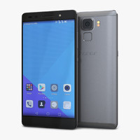 huawei honor 7 gray 3d model