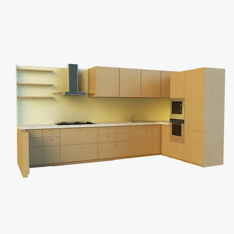 kitchen 3d 3ds