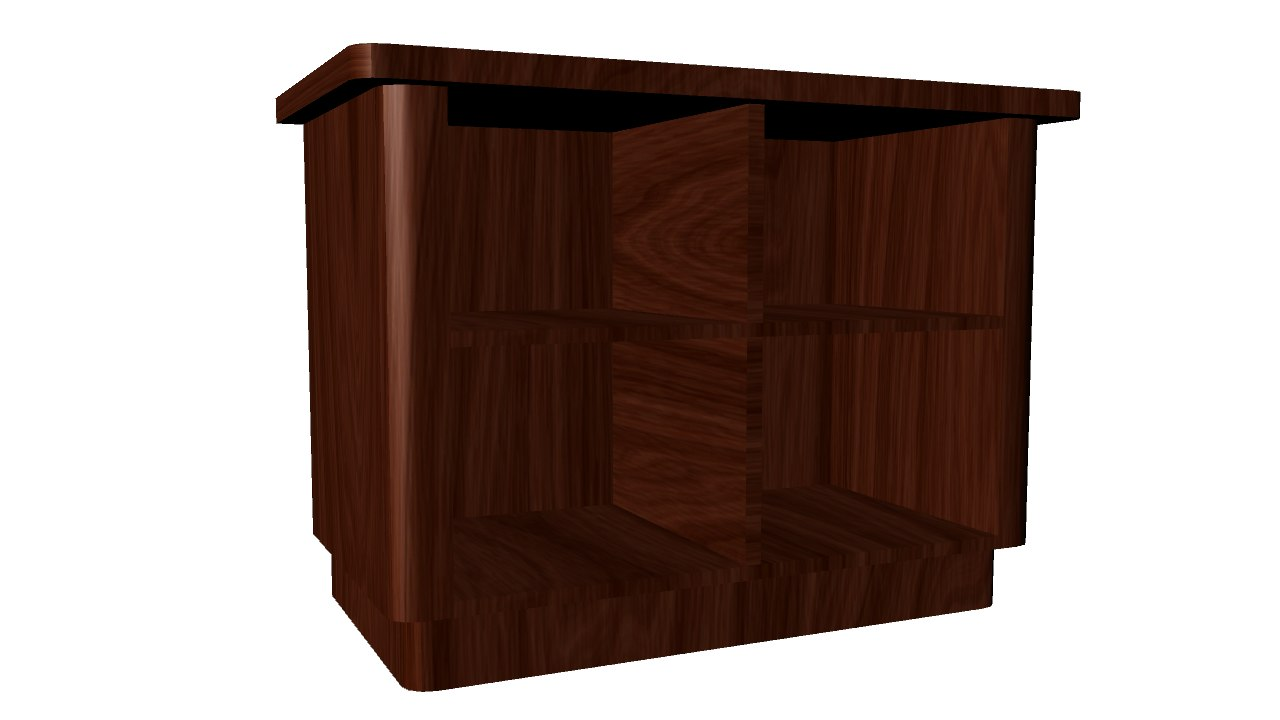 shelf 3d obj