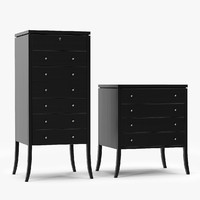 Dering Hall Right Bank Semainier & Bedside Bureau