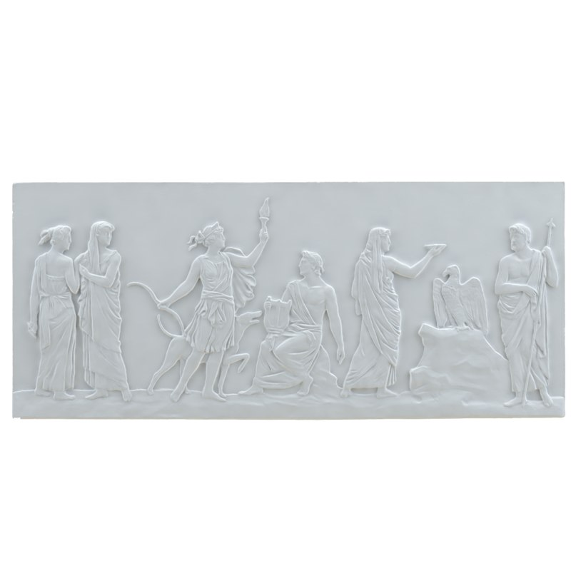 3d bas-relief architecture element model