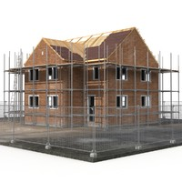 private house construction 3d max