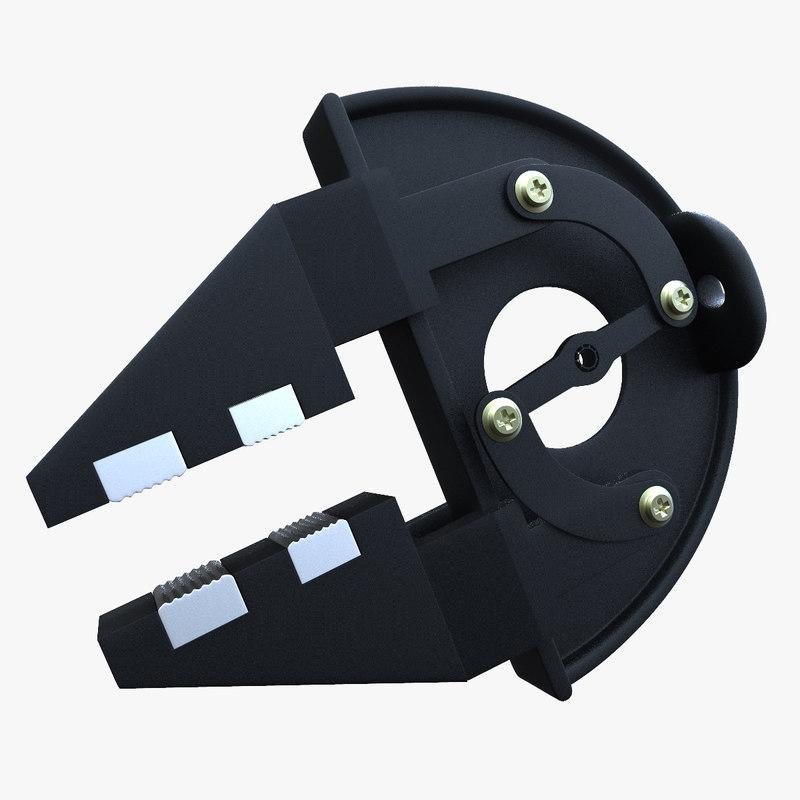 robotic clamp crowbar 3d 3ds
