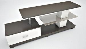 3d model tv table modern