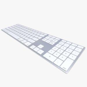 3d obj realistic 2015 wireless apple keyboard
