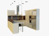 3d model kitchen
