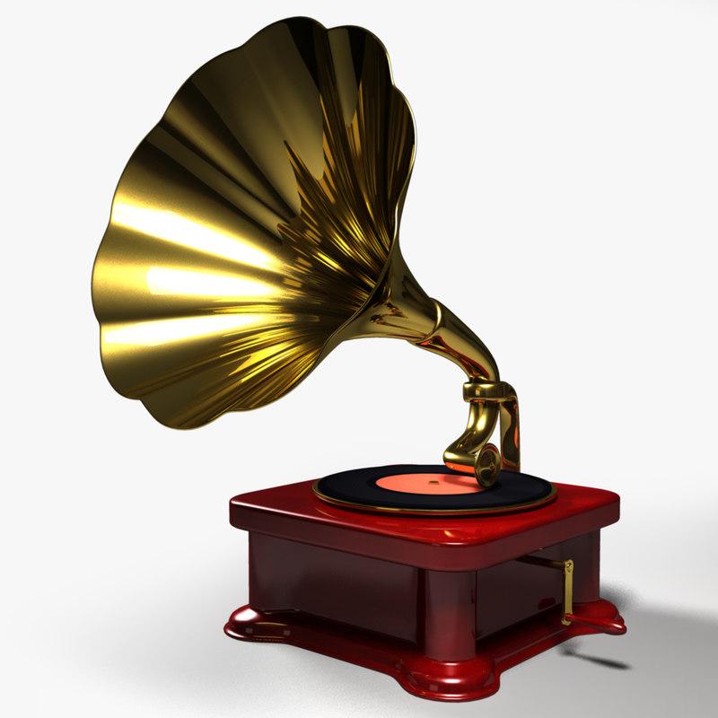 3d model gramophone