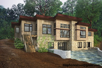wooden lake house 3d max