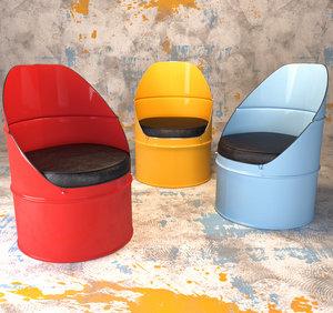 industrial barrel chair max