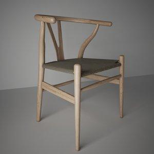3d model wishbone chair