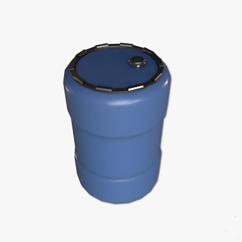 3d ma water barrel