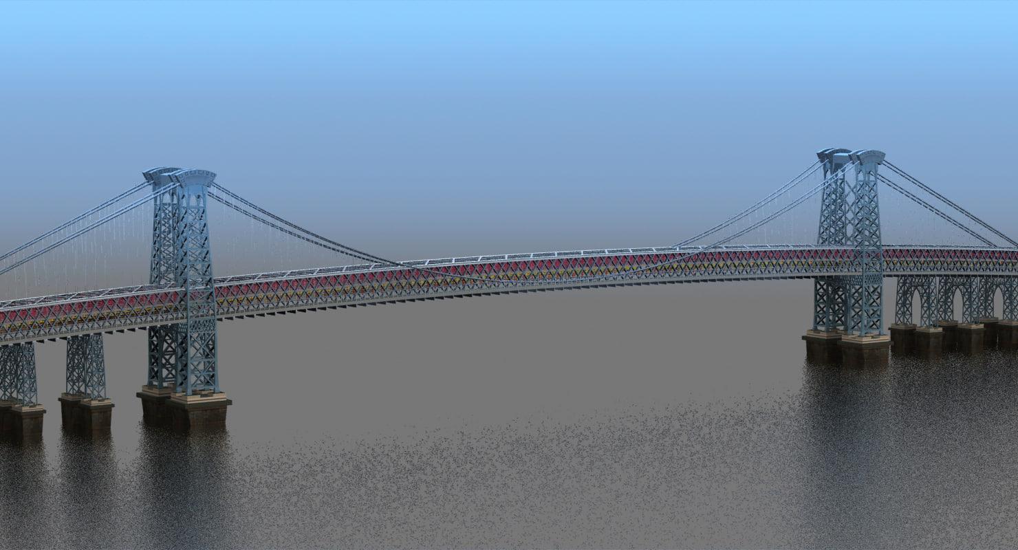 3d model williamsburg bridge nyc