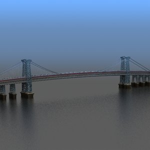 3d model williamsburg bridge nyc