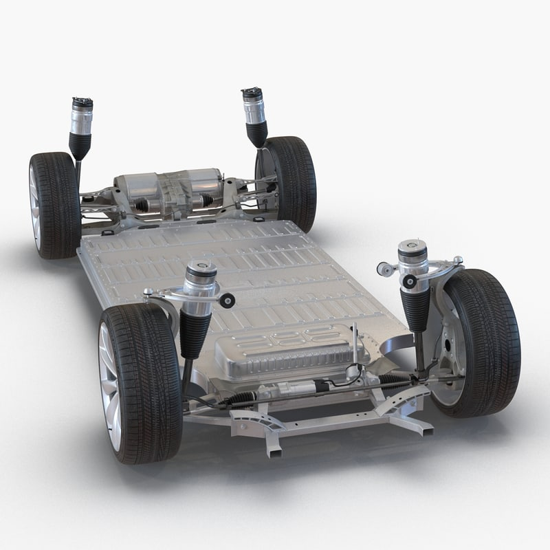tesla s chassis 2 3d max