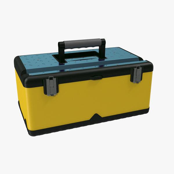 plastic tool box 3d c4d