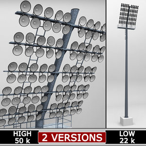rounded stadium lights large 3d max