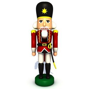 3d model nutcracker red