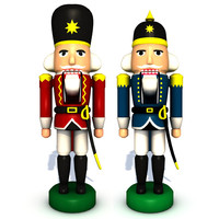3ds max set nutcrackers red blue
