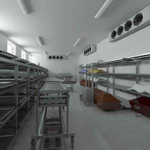 3d model morgue equipment device