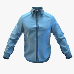 3d model man shirt